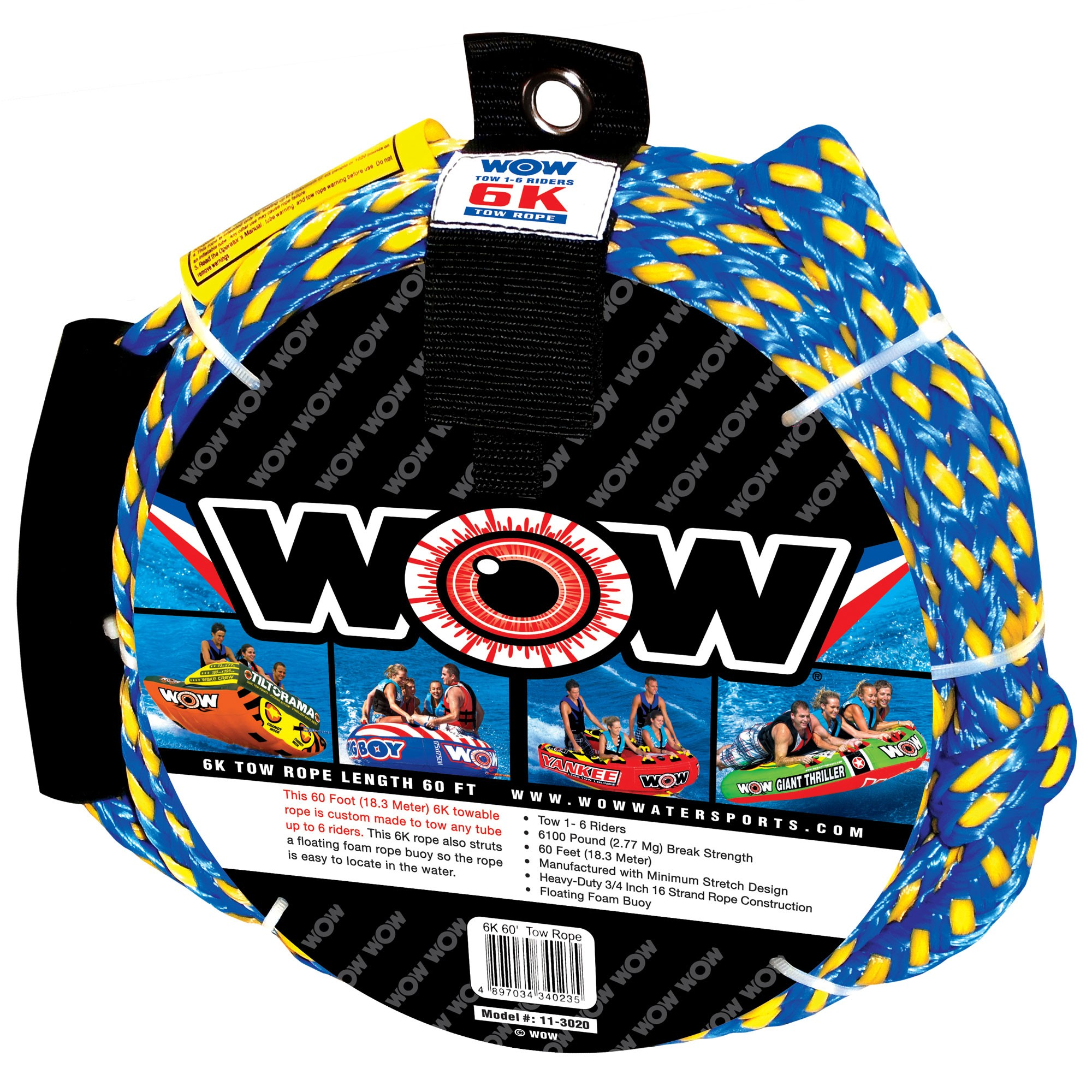 6K 60ft Tow Rope