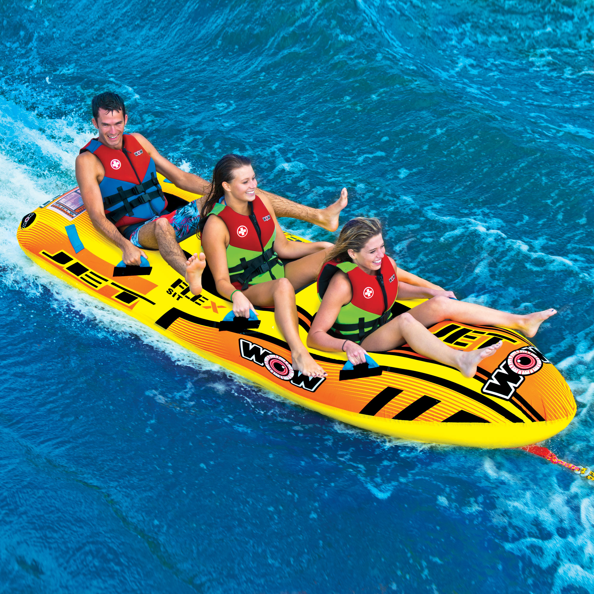 Jet Boat 3 Person Wow World Of Watersports Tow Harness For Towables Home Shop Towable Tubes